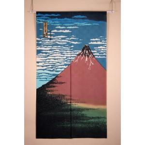 Noren - Mont fuji rouge