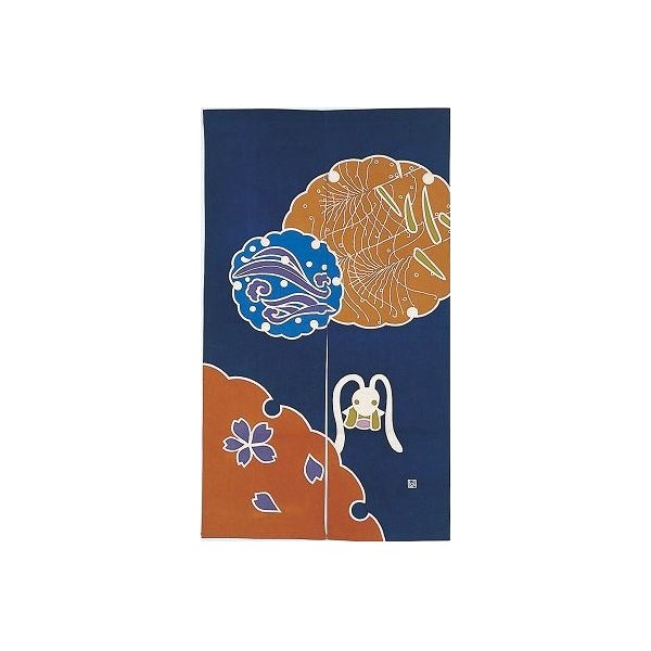 Noren lapin rideau japonais fran ais - Rideau motif japonais ...