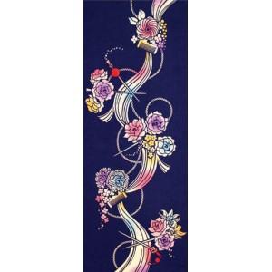 Tenugui - épingle à cheveux avec des fleurs