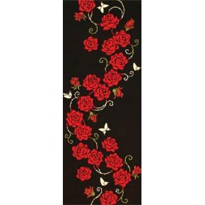 Tenugui - roses rouges