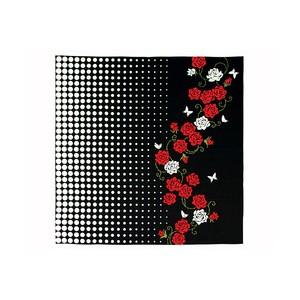 Furoshiki - Roses rouge et blanche