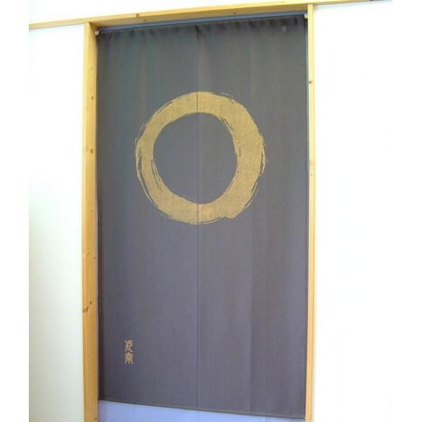 noren ensou beige marron fonc rideau japonais fran ais. Black Bedroom Furniture Sets. Home Design Ideas