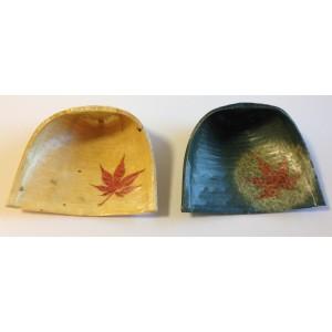 Set cinq plat pour apéritif en papier japonais