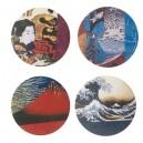 8 dessous de verre , design japonais